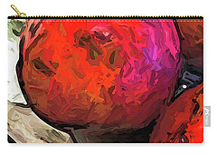 The Red Pomegranates On The Marble Chopping Board Carry-all Pouch