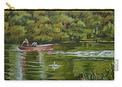 Carry-all Pouch featuring the painting The Red Punt by Murray McLeod