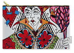 Carry-all Pouch featuring the painting The Red Queen by Jani Freimann
