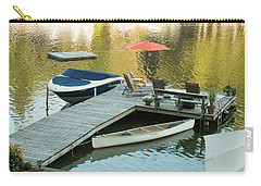 The Red Umbrella At The Lake Carry-all Pouch