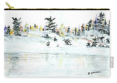 Carry-all Pouch featuring the painting The Reflection Lake by Darren Cannell