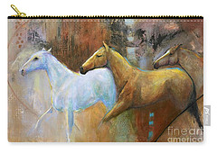 The Reflection Of The White Horse Carry-all Pouch by Frances Marino