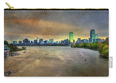 Carry-all Pouch featuring the photograph The Regatta - Head Of The Charles - Boston by Joann Vitali