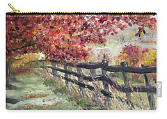 The Rickety Fence Carry-all Pouch by Roxy Rich
