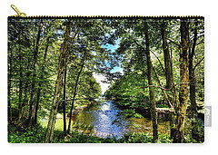 Carry-all Pouch featuring the photograph The River At Covewood by David Patterson