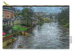 The River Nidd In Flood At Knaresborough Carry-all Pouch