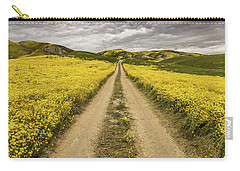 The Road Less Pollenated Carry-all Pouch by Peter Tellone