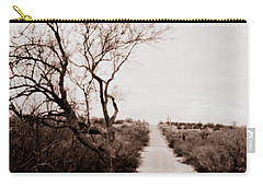 The Road Less Traveled Carry-all Pouch by Nature Macabre Photography