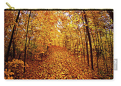 The Road Never Traveled Carry-all Pouch by Phil Koch