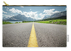Carry-all Pouch featuring the photograph The Road To Glacier by Margaret Pitcher