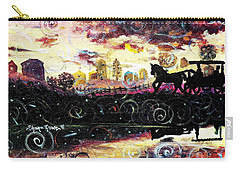 Carry-all Pouch featuring the painting The Road To Home by Shana Rowe Jackson