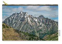 Carry-all Pouch featuring the photograph The Rock At Mount Stuart by Ken Stanback
