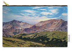 Carry-all Pouch featuring the photograph The Rockies by Bill Gallagher