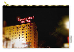 Carry-all Pouch featuring the photograph The Roosevelt Hotel By David Pucciarelli  by Iconic Images Art Gallery David Pucciarelli