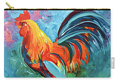 Carry-all Pouch featuring the painting The Rooster by Tom Riggs