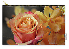 Carry-all Pouch featuring the photograph The Rose And The Orchid by Diana Mary Sharpton
