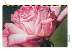 Carry-all Pouch featuring the painting The Rose by Lori Brackett