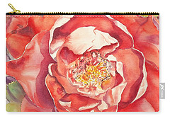 Carry-all Pouch featuring the painting The Rose by Mary Haley-Rocks