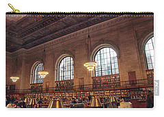 Carry-all Pouch featuring the photograph The Rose Reading Room by Jessica Jenney