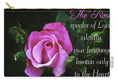 Carry-all Pouch featuring the photograph The Rose by Trina Ansel