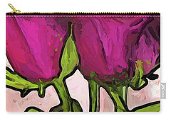 The Roses With The Green Stems And Leaves Carry-all Pouch