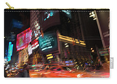 Carry-all Pouch featuring the photograph The Running Of The Taxis by Alex Lapidus