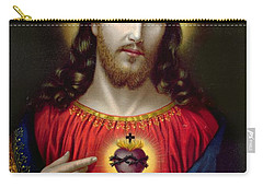 The Sacred Heart Of Jesus Carry-all Pouch