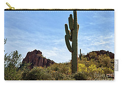 Carry-all Pouch featuring the photograph The Saguaro Against The Sky by Kirt Tisdale