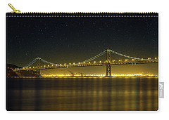 The San Francisco Oakland Bay Bridge At Night Carry-all Pouch