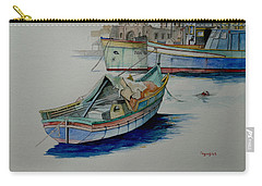 Carry-all Pouch featuring the painting The San George by Ray Agius