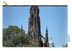 Carry-all Pouch featuring the photograph The Scott Monument In Edinburgh, Scotland by Jeremy Lavender Photography