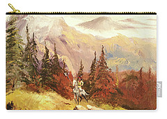 Carry-all Pouch featuring the painting The Scout by Alan Lakin
