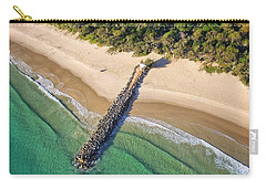 Carry-all Pouch featuring the photograph The Sea Wall Near Noosa Main Beach by Keiran Lusk