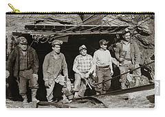 The Search And Retrieval Team After The Knox Mine Disaster Port Griffith Pa 1959 At Mine Entrance Carry-all Pouch