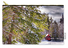 Carry-all Pouch featuring the photograph The Secluded Boathouse by David Patterson