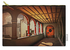 Carry-all Pouch featuring the photograph The Secret Door In Basel Switzerland  by Carol Japp
