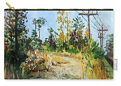 Carry-all Pouch featuring the painting The Service Road by Jim Phillips