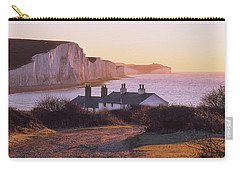 Carry-all Pouch featuring the photograph The Seven Sisters Cottages by Will Gudgeon