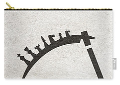 Carry-all Pouch featuring the digital art The Seventh Seal Aka Det Sjunde Inseglet by Ayse Deniz