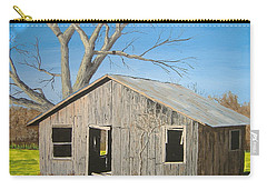 Carry-all Pouch featuring the painting The Shack by Norm Starks