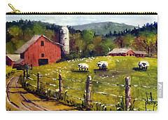 Carry-all Pouch featuring the painting The Sheep Farm by Jim Phillips