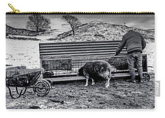 Carry-all Pouch featuring the photograph The Shepherd by Keith Elliott
