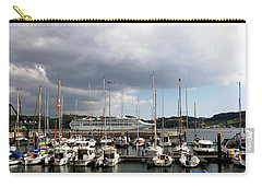Carry-all Pouch featuring the photograph Ship Comes In To Belem by Lorraine Devon Wilke