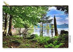 Carry-all Pouch featuring the photograph The Shore At Covewood by David Patterson