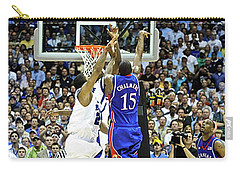 The Shot, 3.1 Seconds, Mario Chalmers Magic, Kansas Basketball 2008 Ncaa Championship Carry-all Pouch by Thomas Pollart