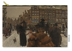 The Singel Bridge At The Paleisstraat In Amsterdam, 1896 Carry-all Pouch