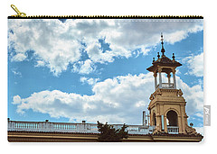 Carry-all Pouch featuring the photograph The Sky Above The Towers Of Montjuic by Eduardo Jose Accorinti