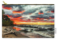 The Sky On Fire At Sunset On Lake Erie Carry-all Pouch