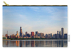 The Skyline Of Chicago At Sunrise Carry-all Pouch