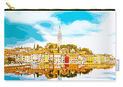 The Skyline Of The Picturesque Fishing Port Of Rovinj/rovigno In Carry-all Pouch